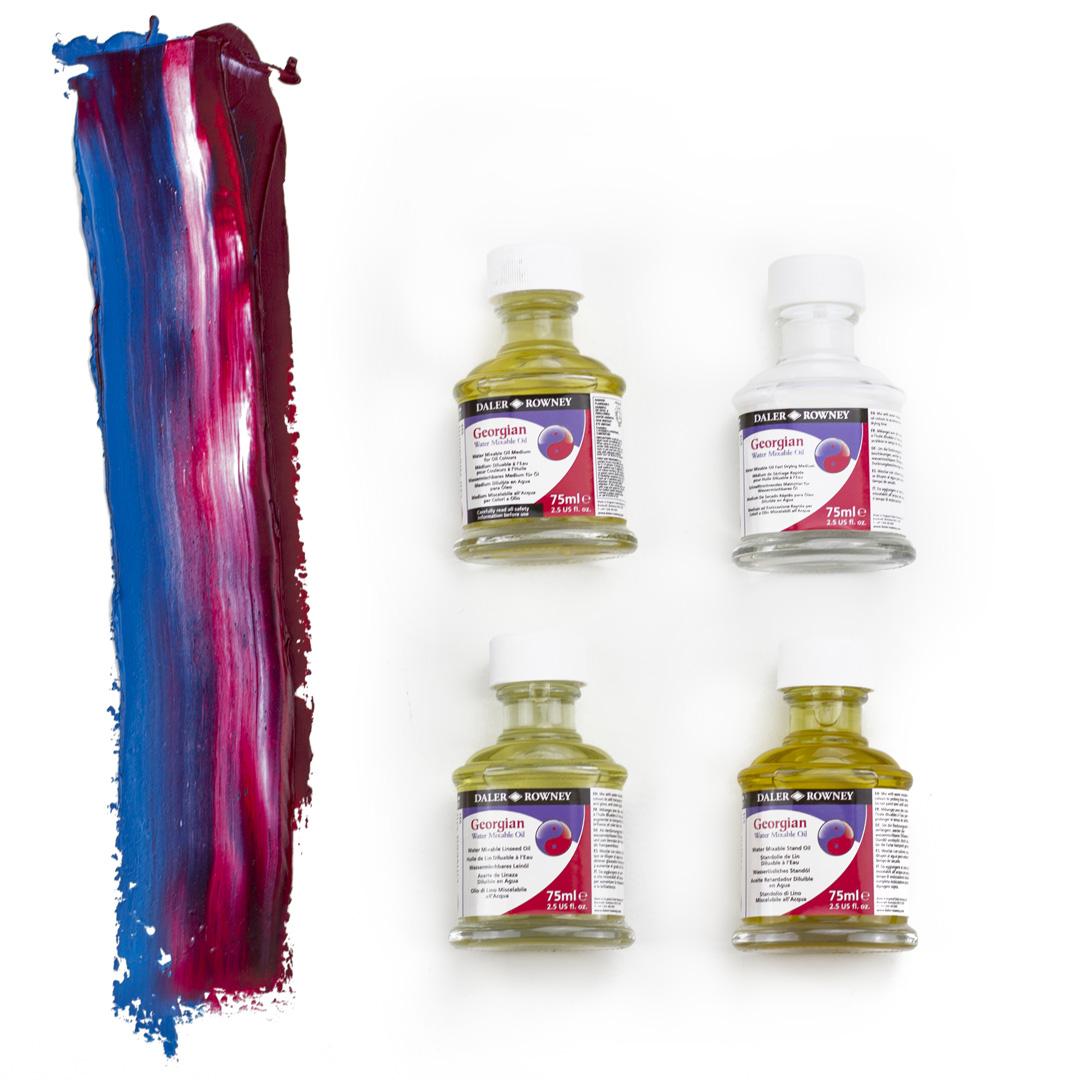 Georgian Water Mixable Oil Colour Mediums