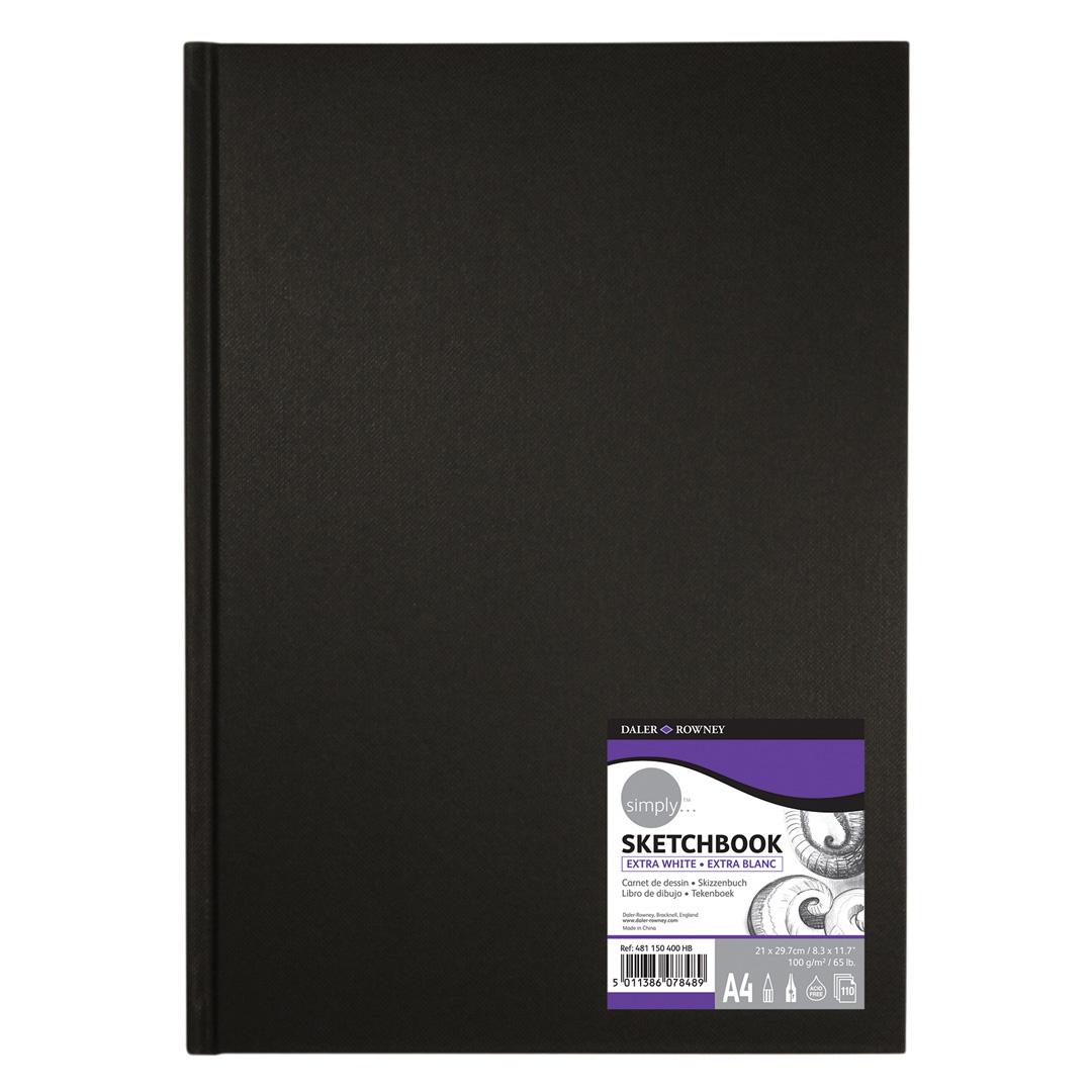 Sketchbook Hardbound 65 LB 110 Sheets 4 sizes same as Daler Rowney Simply HB